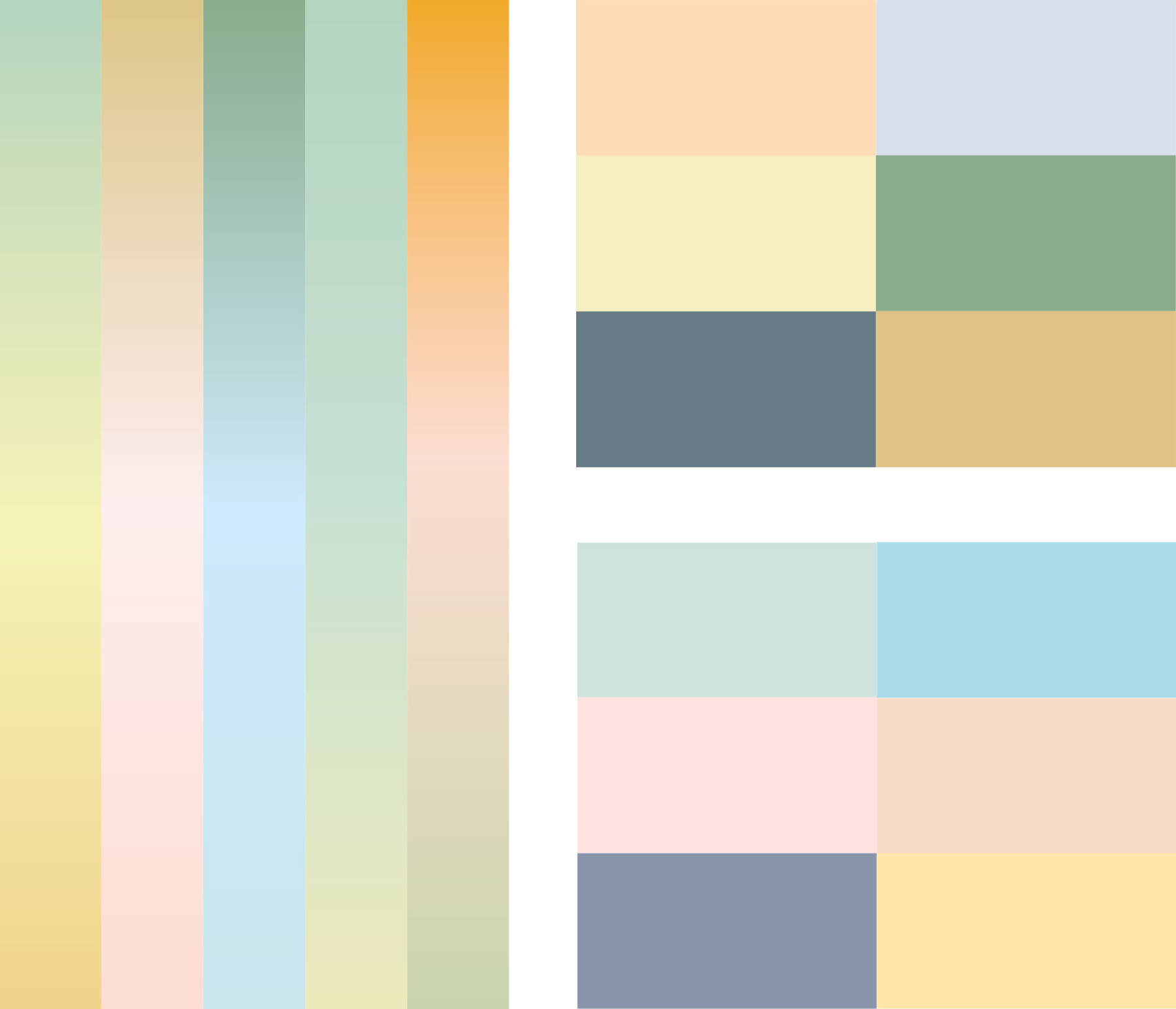 La palette de couleurs à dominante pastel représente la richesse du territoire, entre terre et mer, sujette aux nombreuses variations de lumières, propres à la Côte d'Opale.
