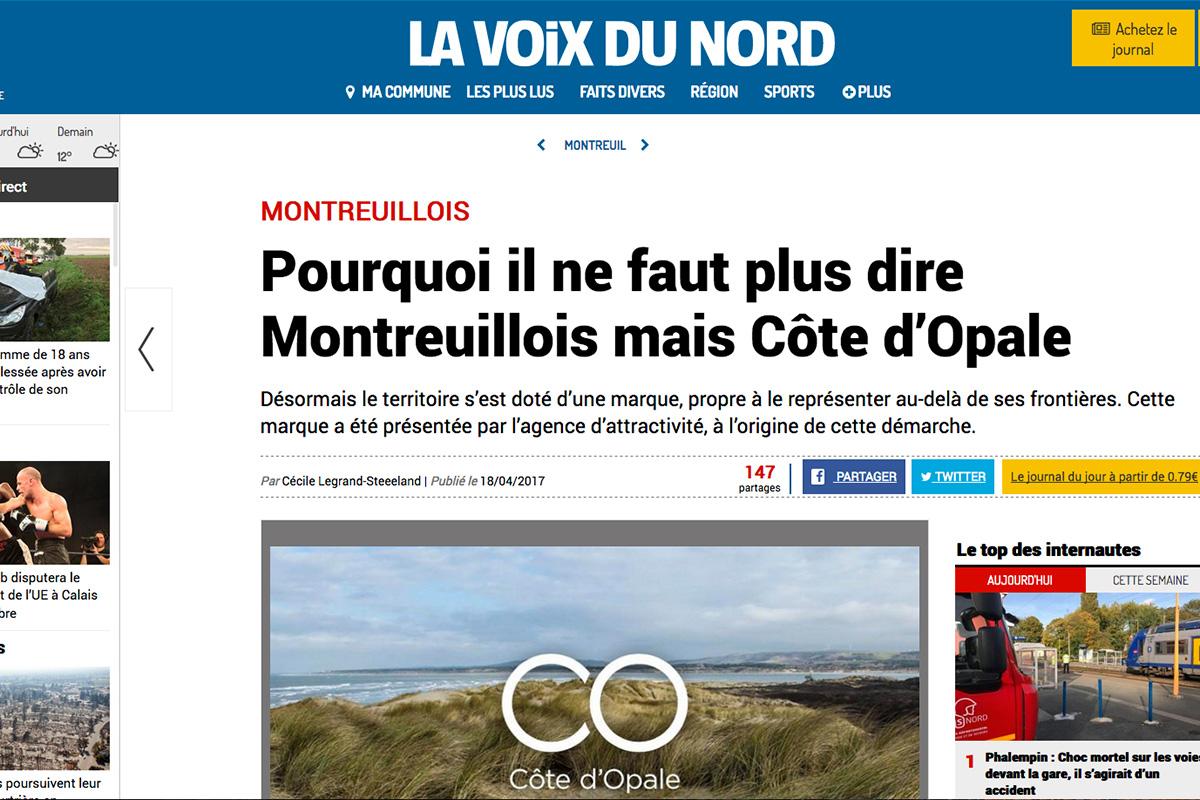 Voix du nord Côte d'Opale